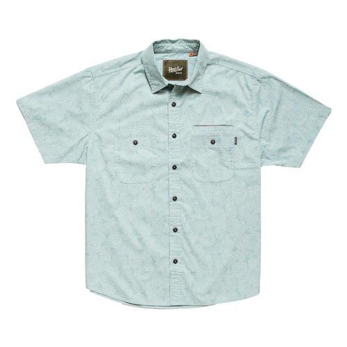 Howler Brothers Men's Aransas Prickly Pear Print Short Sleeve Shirt Seaspray