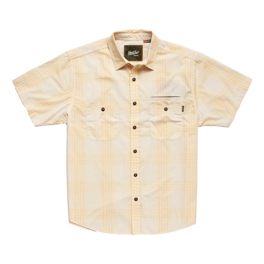 Howler Brothers Men's Aransas Big Pain Plaid Short Sleeve Shirt VINTYELLO