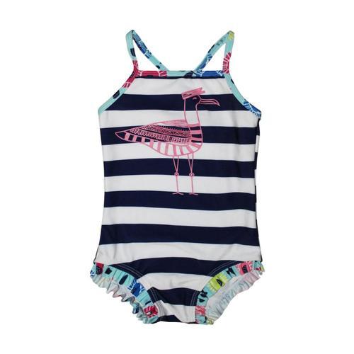 Mary Elyse Kids Lulu Pelican Stripe One Piece Swimsuit Nvystripe