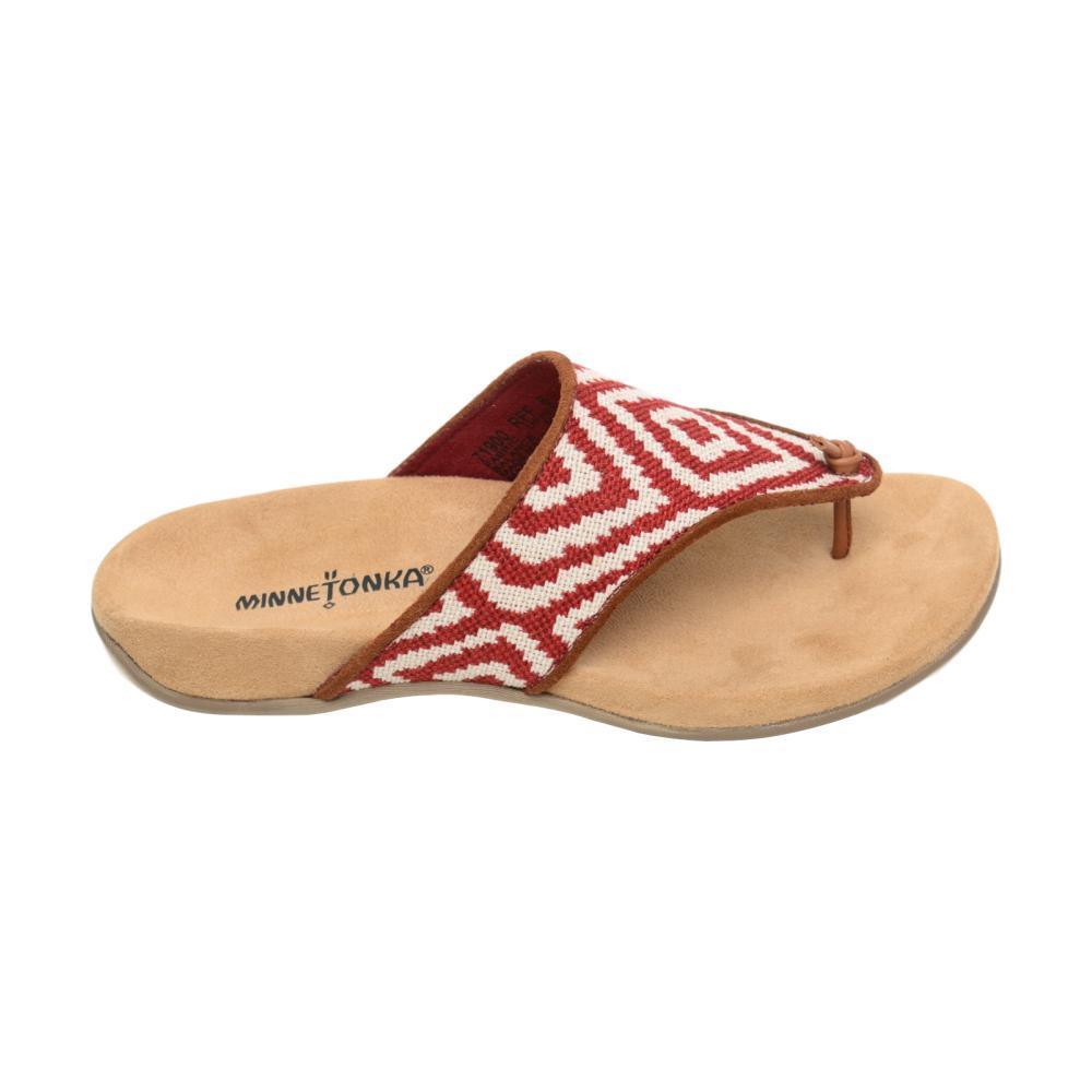 Minnetonka Women's Mara Flat Sandals RED.PRT_RFF