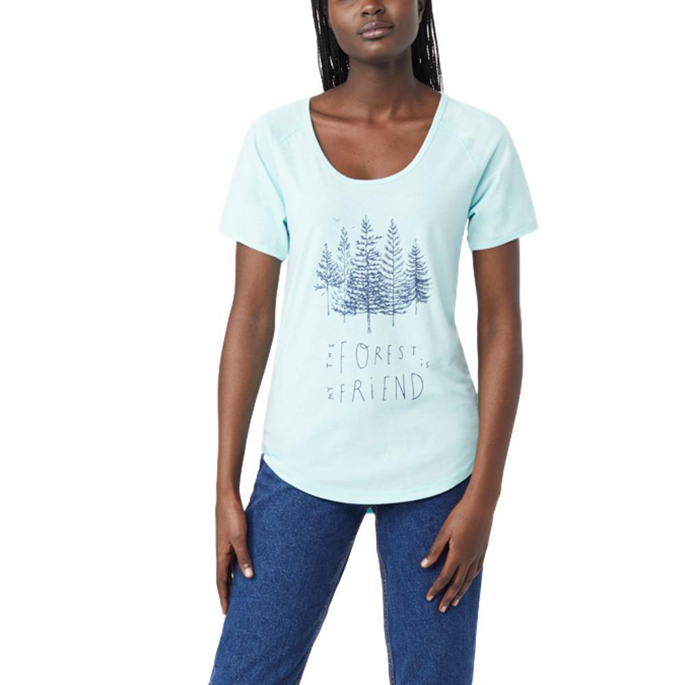 tentree Women's Forest Tee Shirt BLUTNT_BLU