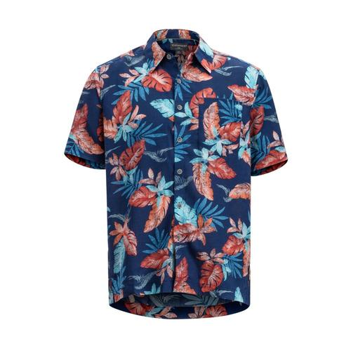 ExOfficio Men's Next-To-Nothing Pindo Print Short Sleeve Shirt Inktropicola