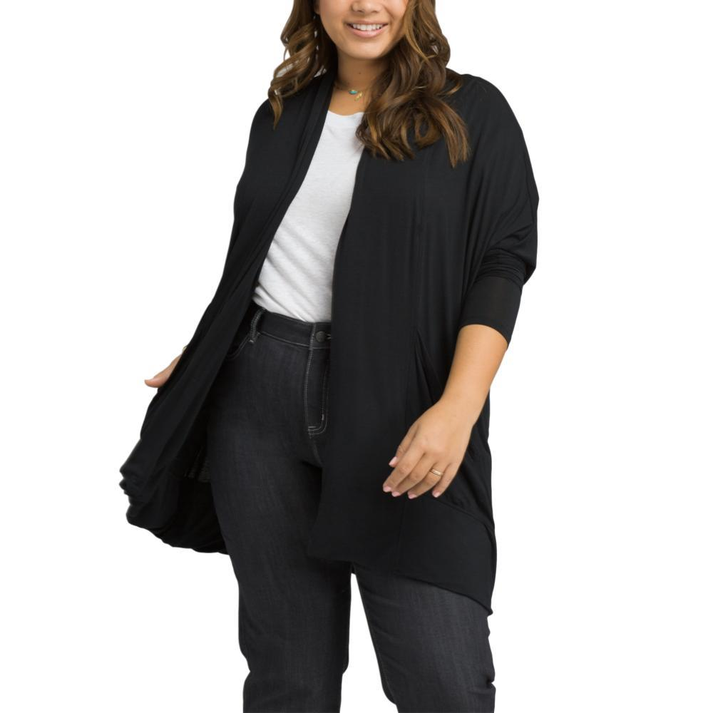 prAna Women's Foundation Wrap Plus Cardigan BLACK