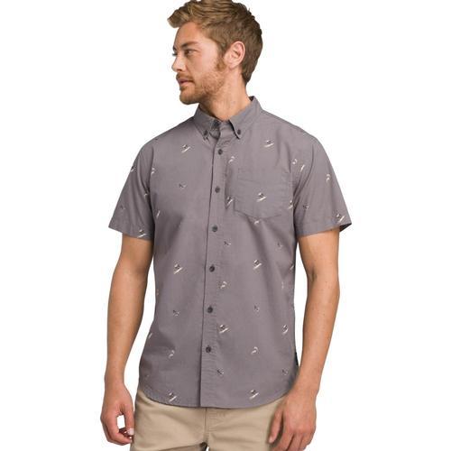 prAna Men's Broderick Shirt - Slim Gravel