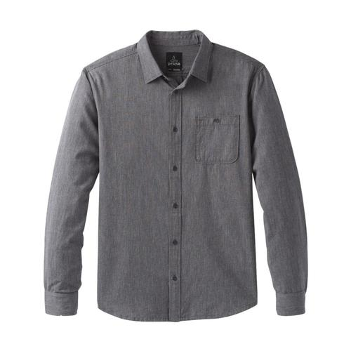 prAna Men's Jaffra Long Sleeve Shirt Granite