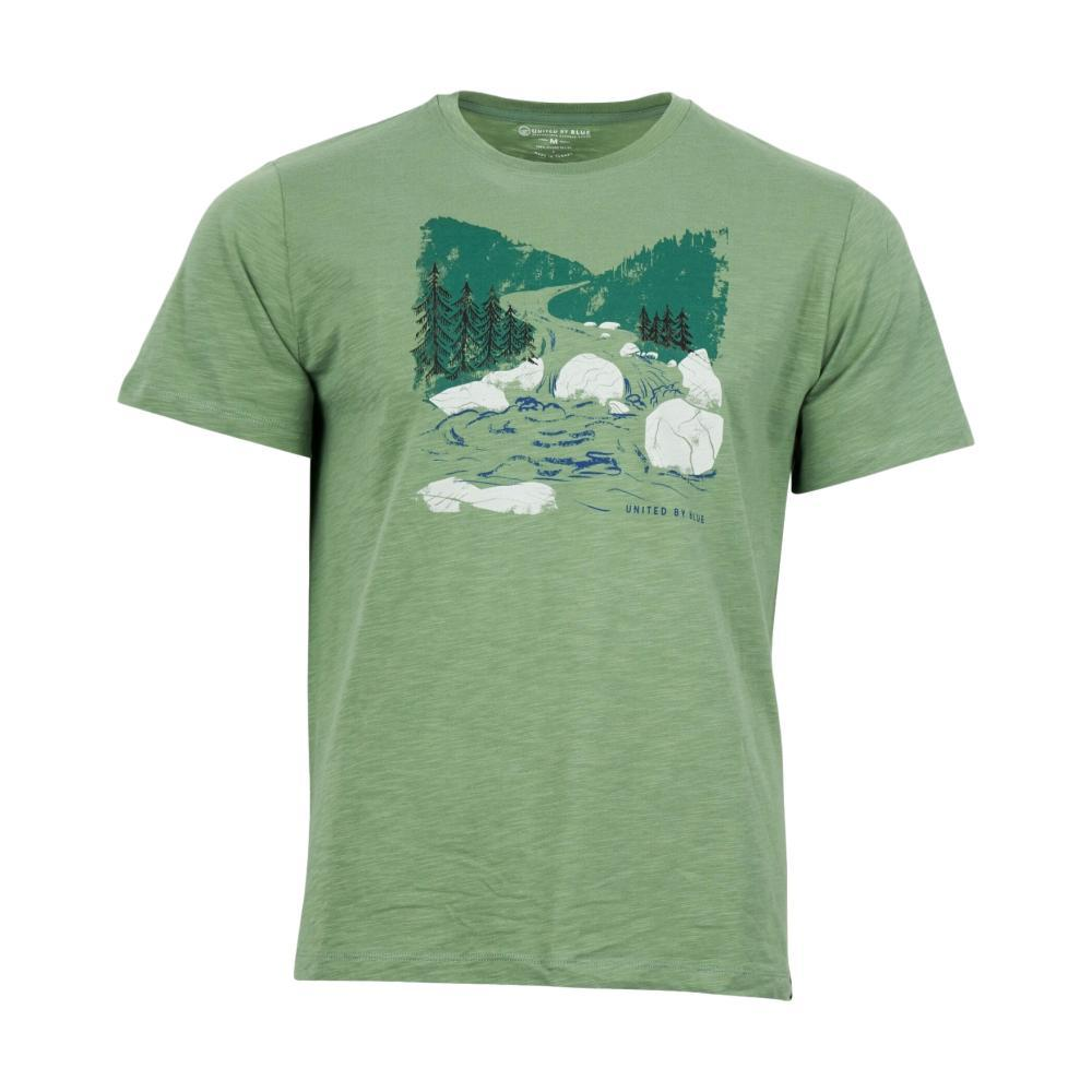 United By Blue Men's Woodcut River Tee FERNGREEN