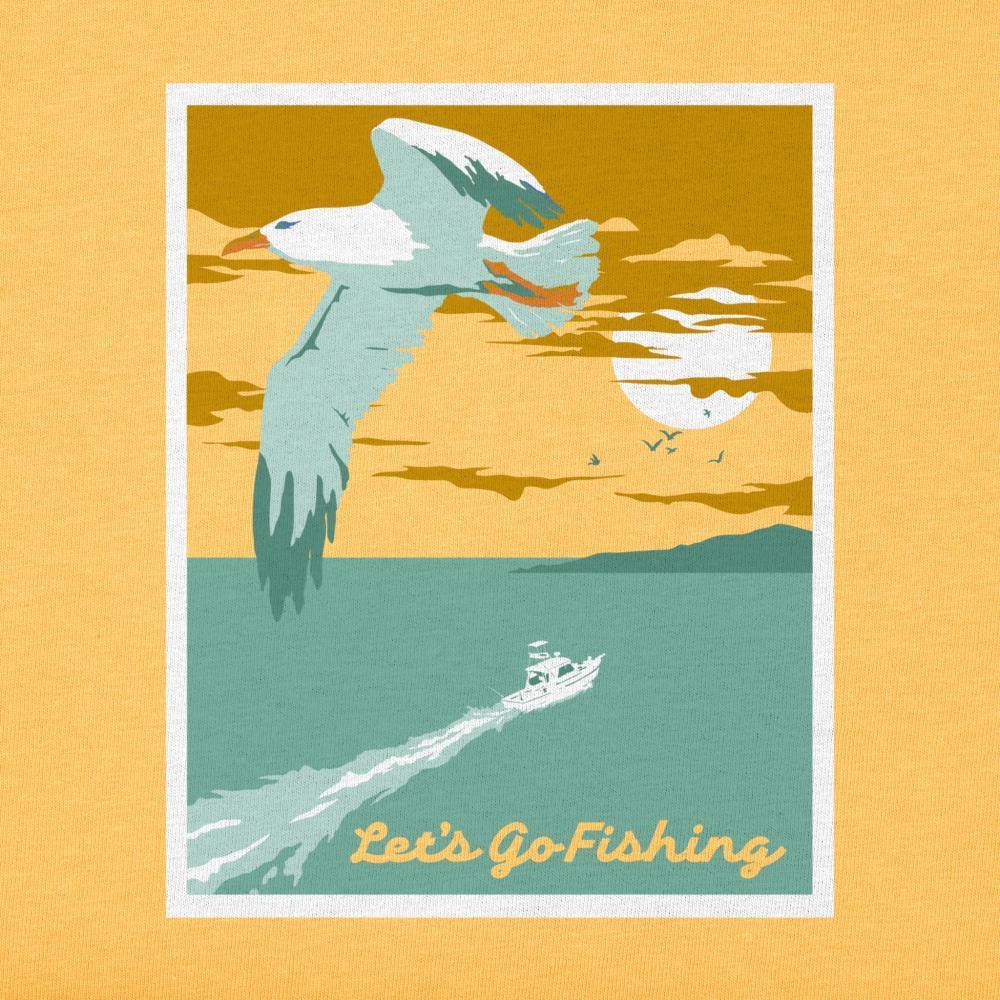 Life Is Good Men's Let's Go Fishing Crusher Tee BAJAYELLOW