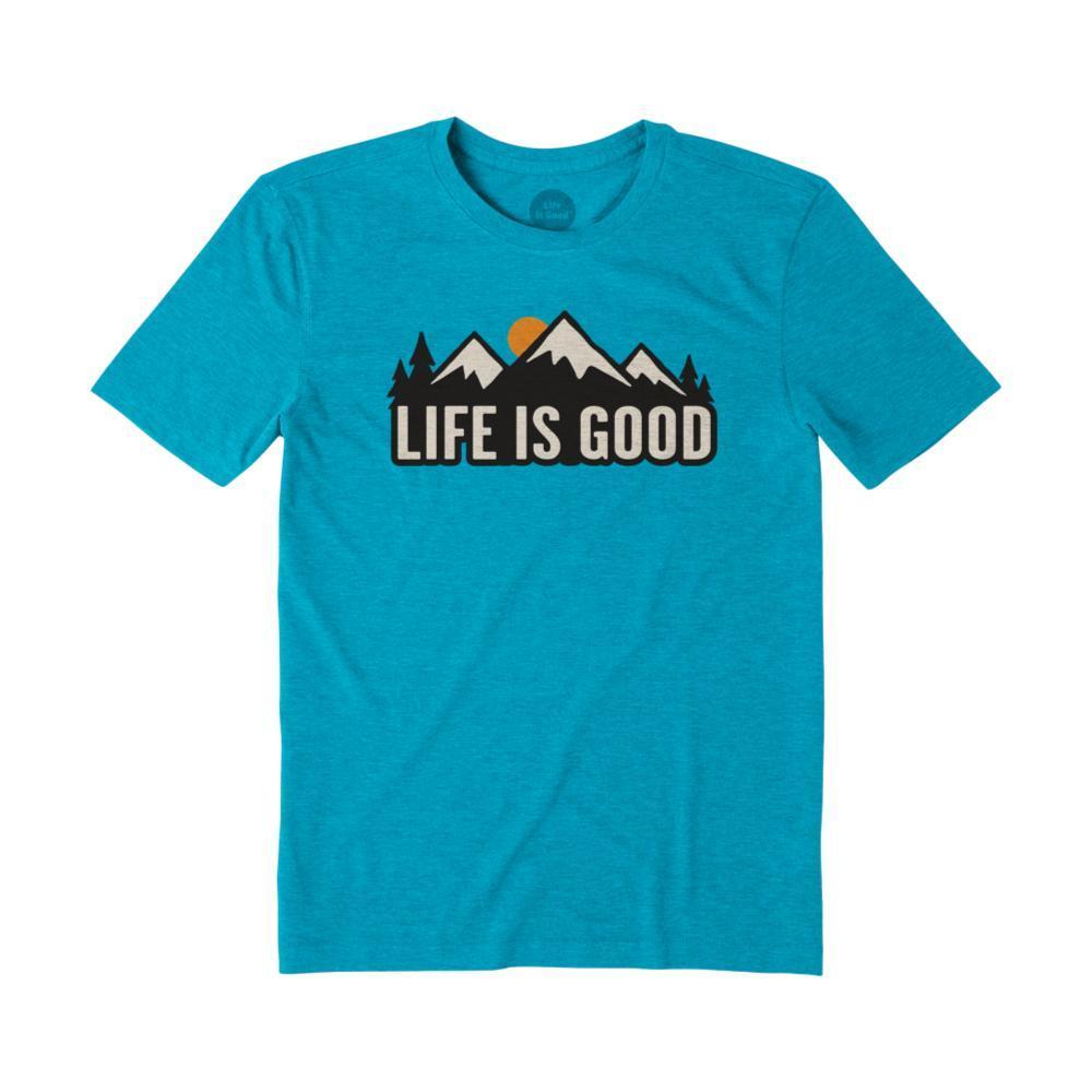 Life Is Good Men's LIG Mountains Cool Tee SEAPORTBLU