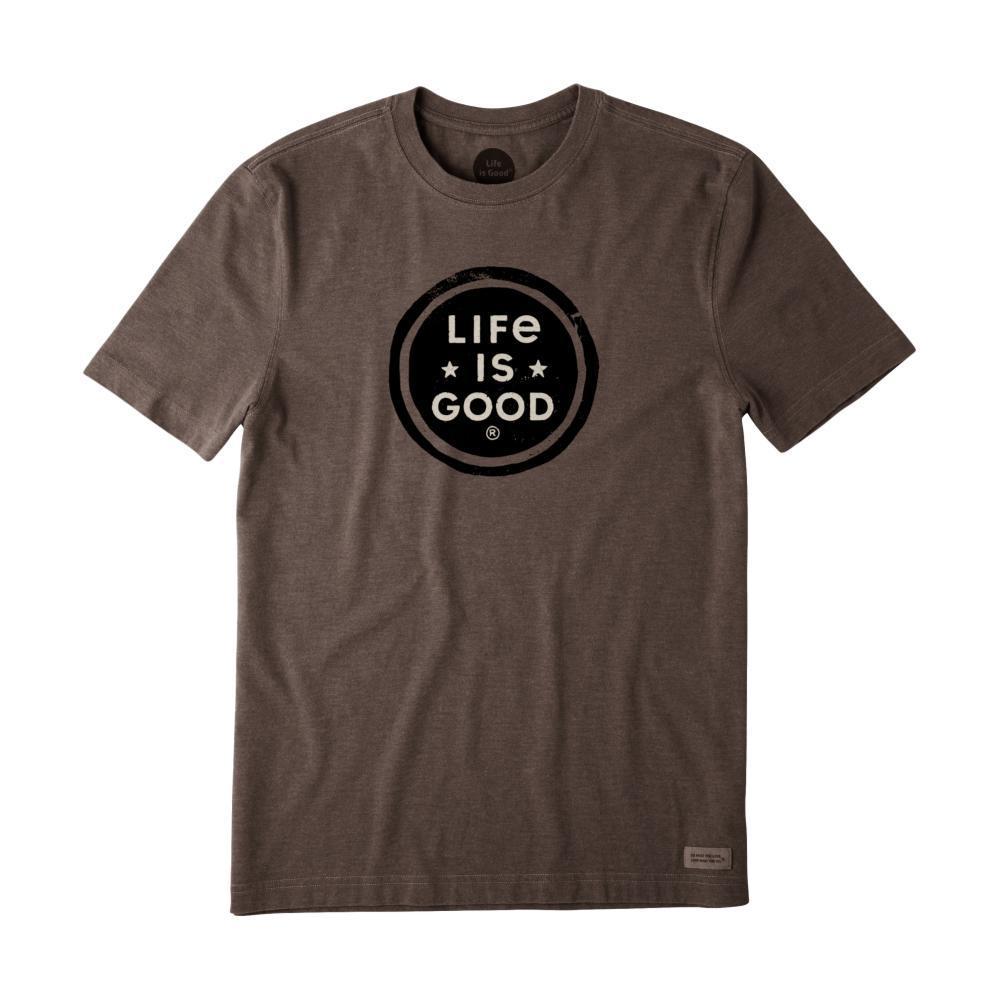 Life Is Good LIG Stamp Crusher Tee HTHRICHBRN