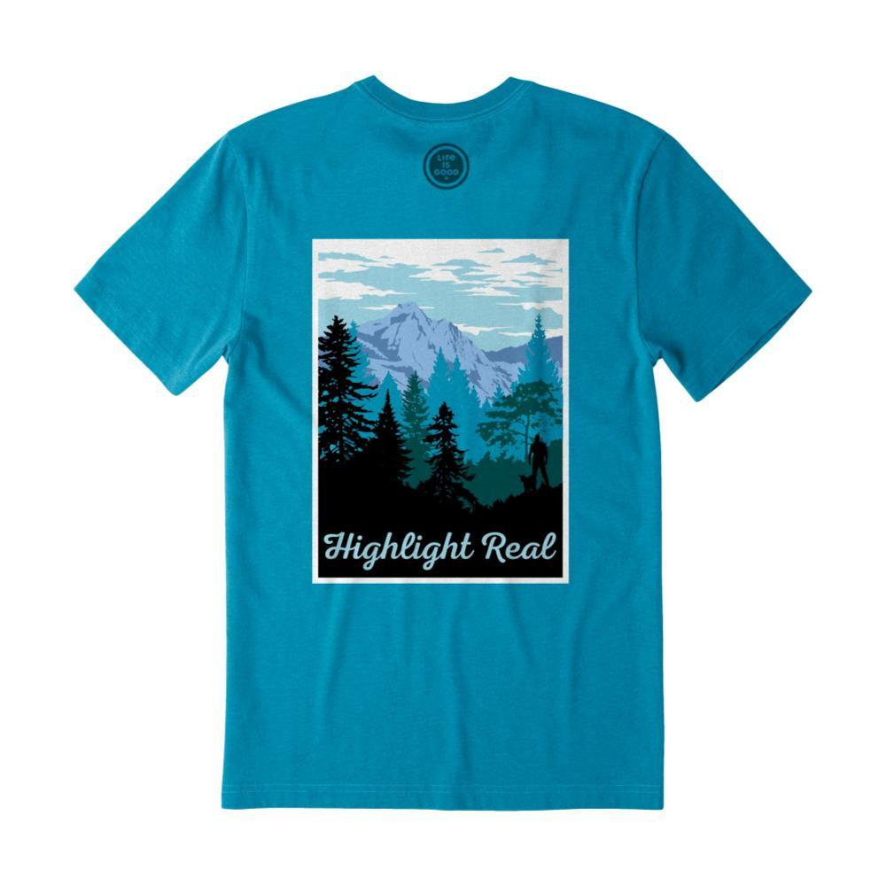 Life Is Good Men's Highlight Real Crusher Tee HTHSEABLUE