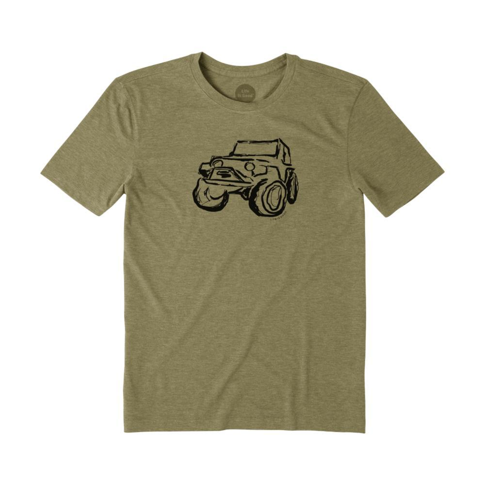 Life Is Good Men's Let The Good Times Roll Cool Tee FATIGUEGRN