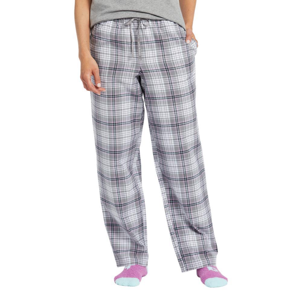 Life is Good Women's Gray Grape Plaid Classic Sleep Pants SLATEGRAY