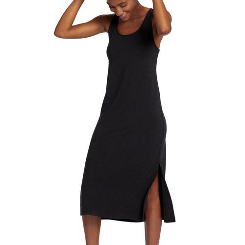 Life is Good Women's LIG Lotus Supreme Team Midi Dress Nightblack