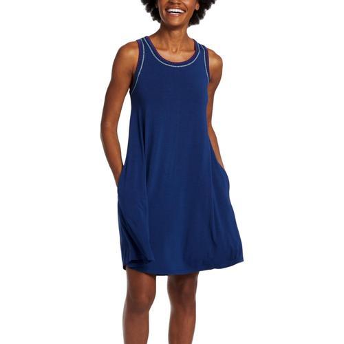 Life is Good Women's Butterfly Trapeze Pocket Dress Dkestblue