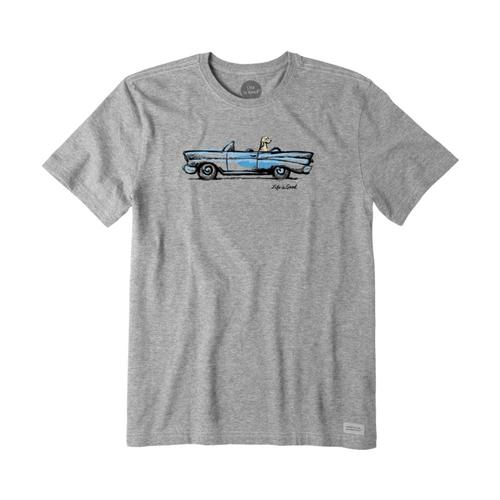 Life is Good Men's Air Conditioning Crusher Tee Hthgrycar
