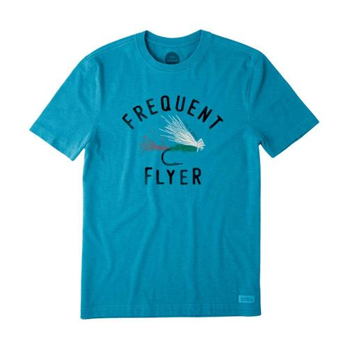 Life is Good Men's Frequent Flyer Crusher Tee Bluefish