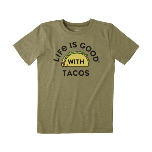 Life is Good Boys LIG With Tacos Cool Tee Ftggreen