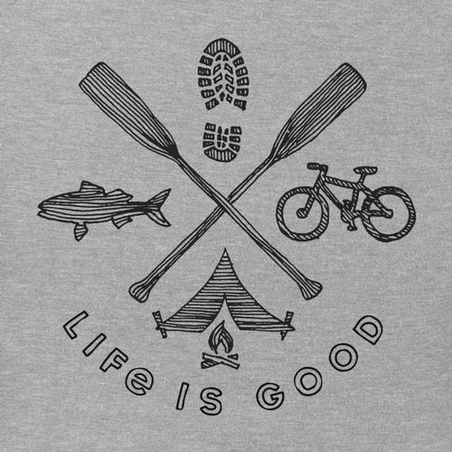 Life is Good Boys Outdoor Action Crusher Tee Hthrgray