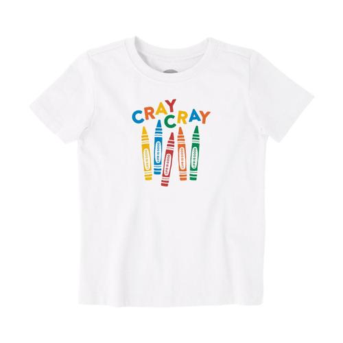 Life is Good Toddler Cray Cray Crusher Tee Cloudwhite