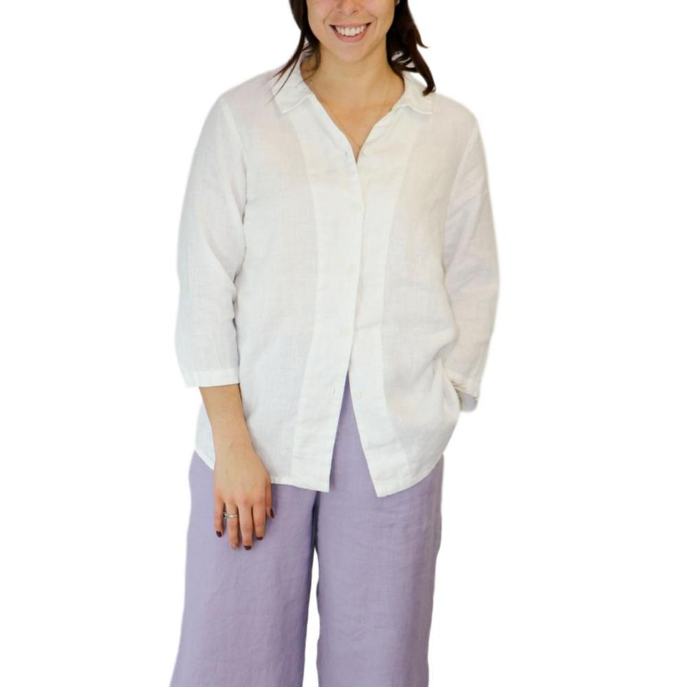 FLAX Women's In Line Blouse WHITE