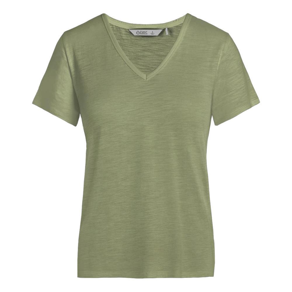 tasc Women's St. Charles V-Neck T Shirt MEADOW