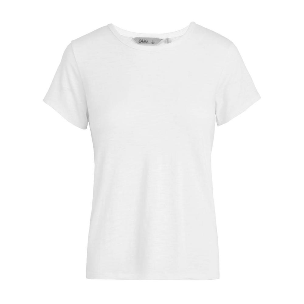 tasc Women's St. Charles Crew Short Sleeve T Shirt WHITE