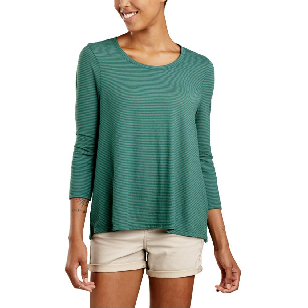 Toad and Co. Women's Tissue Swing 3/4 Tee DUCKGREEN