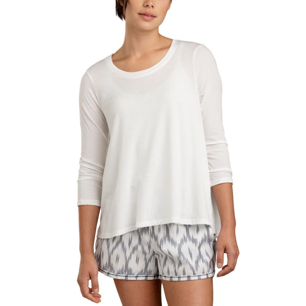 Toad and Co. Women's Tissue Swing 3/4 Tee EGRET