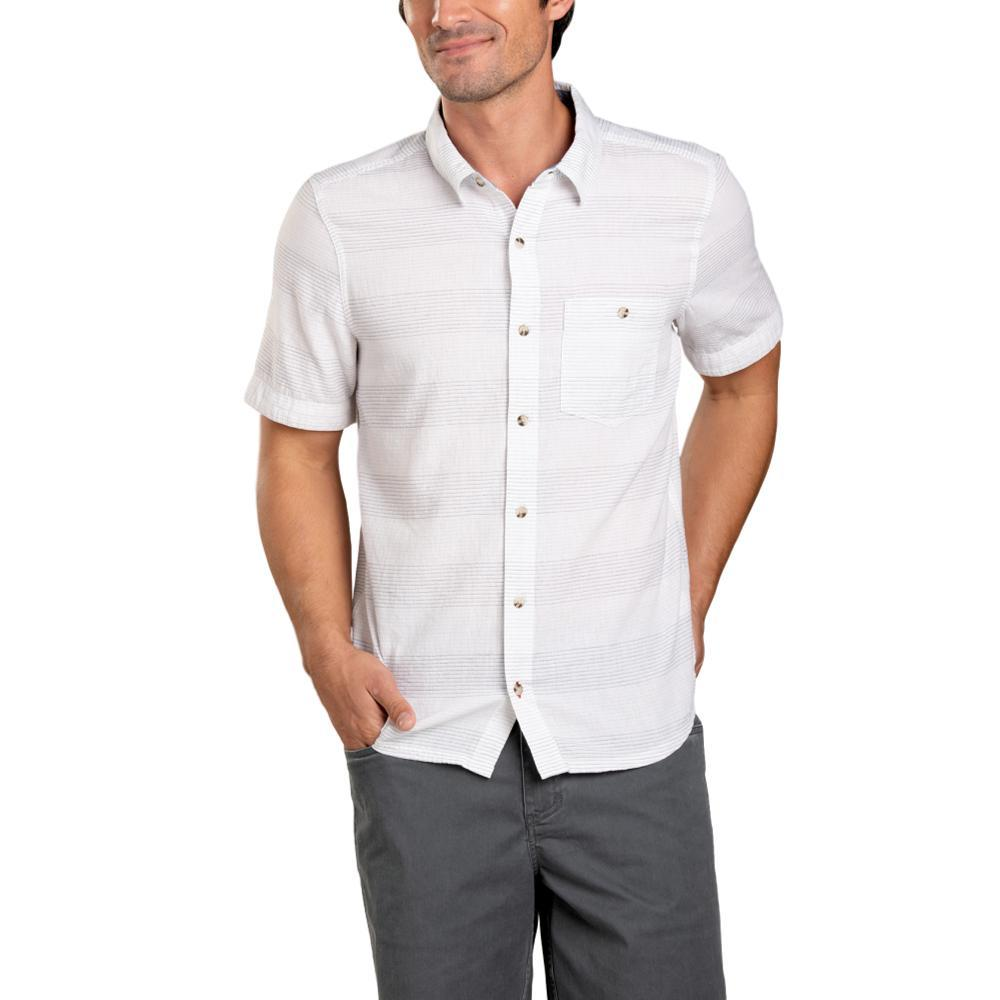 Toad&Co Men's Airlift Short Sleeve Slim Shirt WHITE