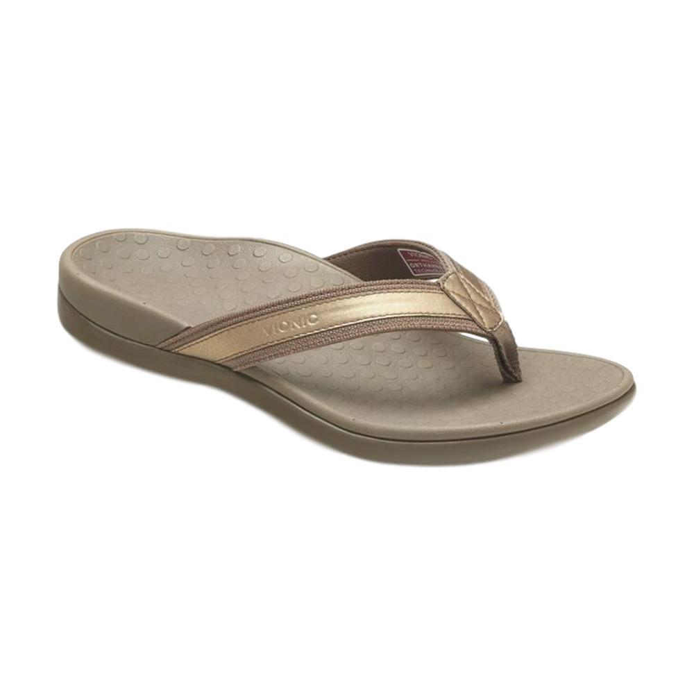 Vionic Women's Tide II Toe Post Sandals BRNZMTL
