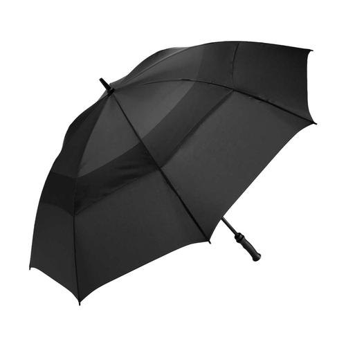 ShedRain Windjammer Vented Golf Umbrella with Rubber Grip Black