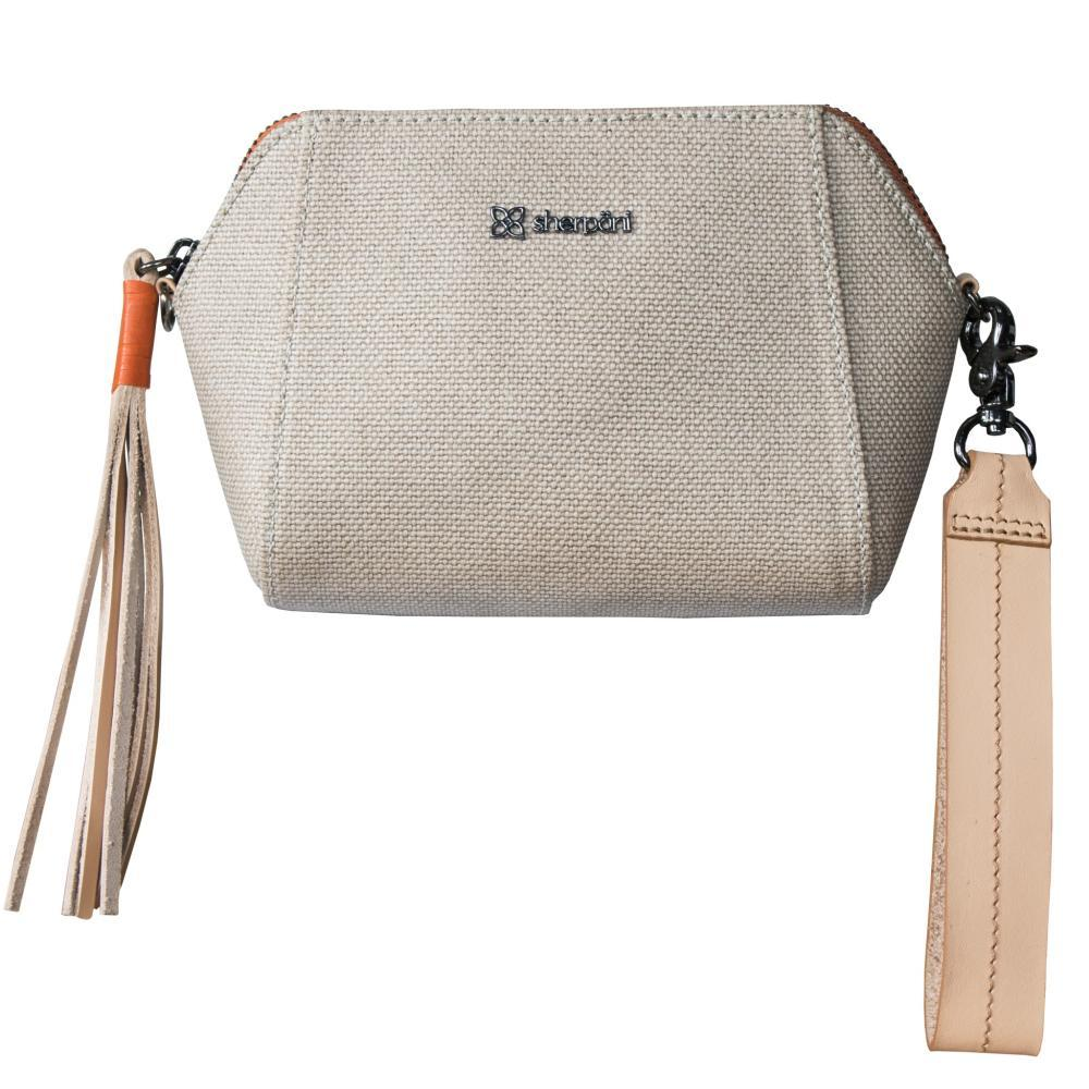 Sherpani Vibe Wristlet Crossbody Bag NATURAL