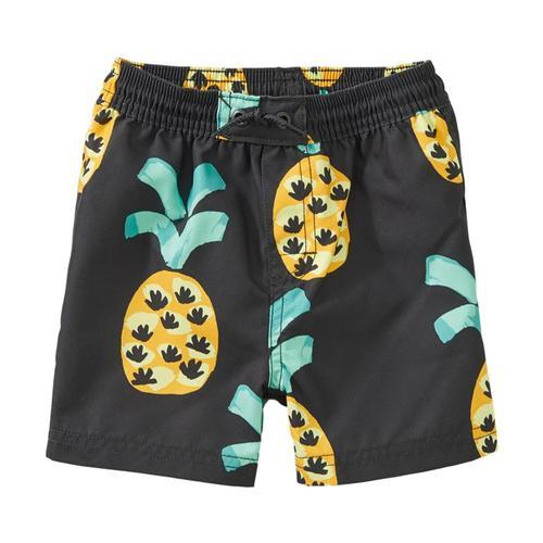 Tea Collection Printed Baby Swim Trunks Pineapple