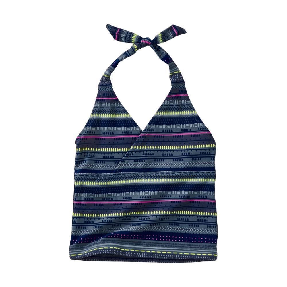 Tea Collection Girls Printed Tie Tankini Top SEABREEZE