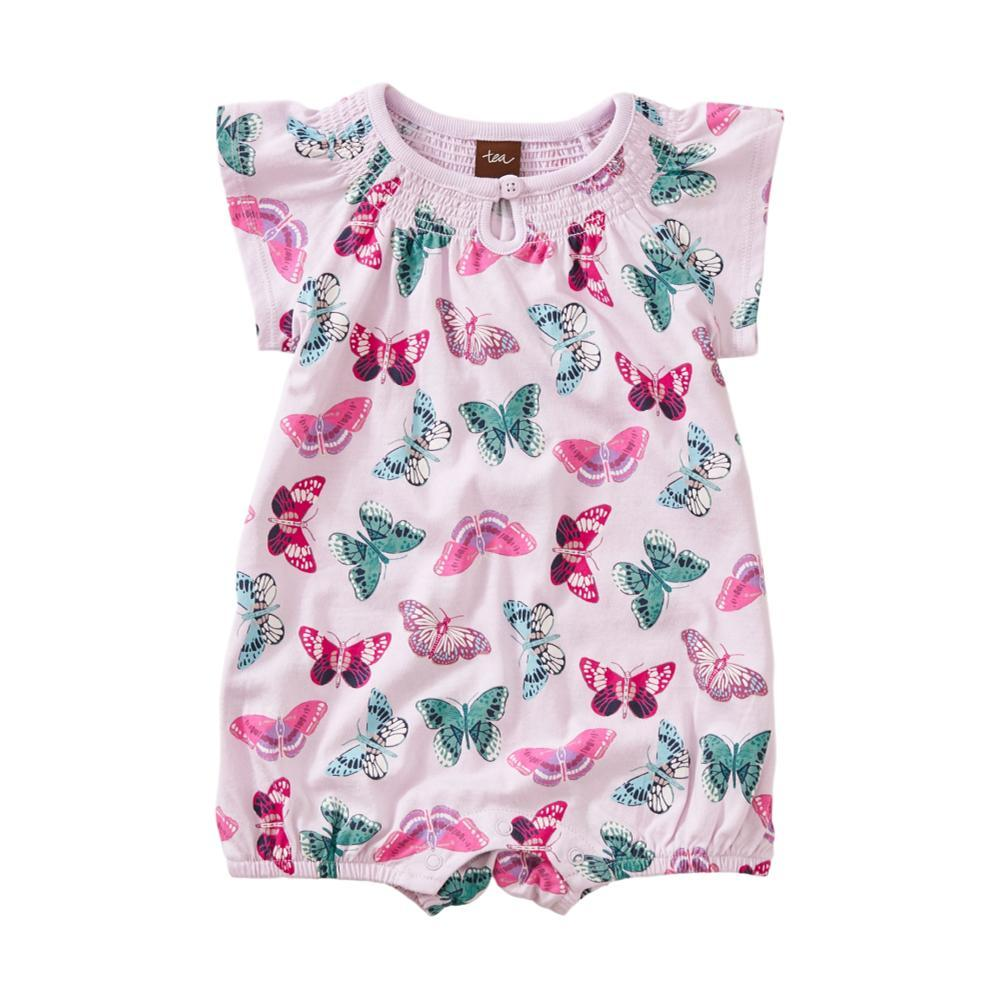 Tea Collection Baby Printed Smocked Romper GOSSAMER