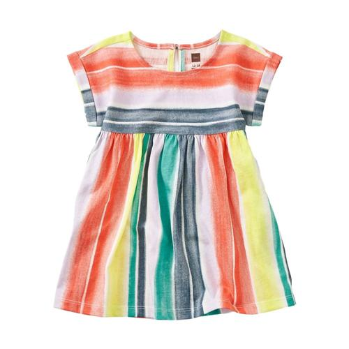 Tea Collection Printed Empire Baby Dress Watercolor