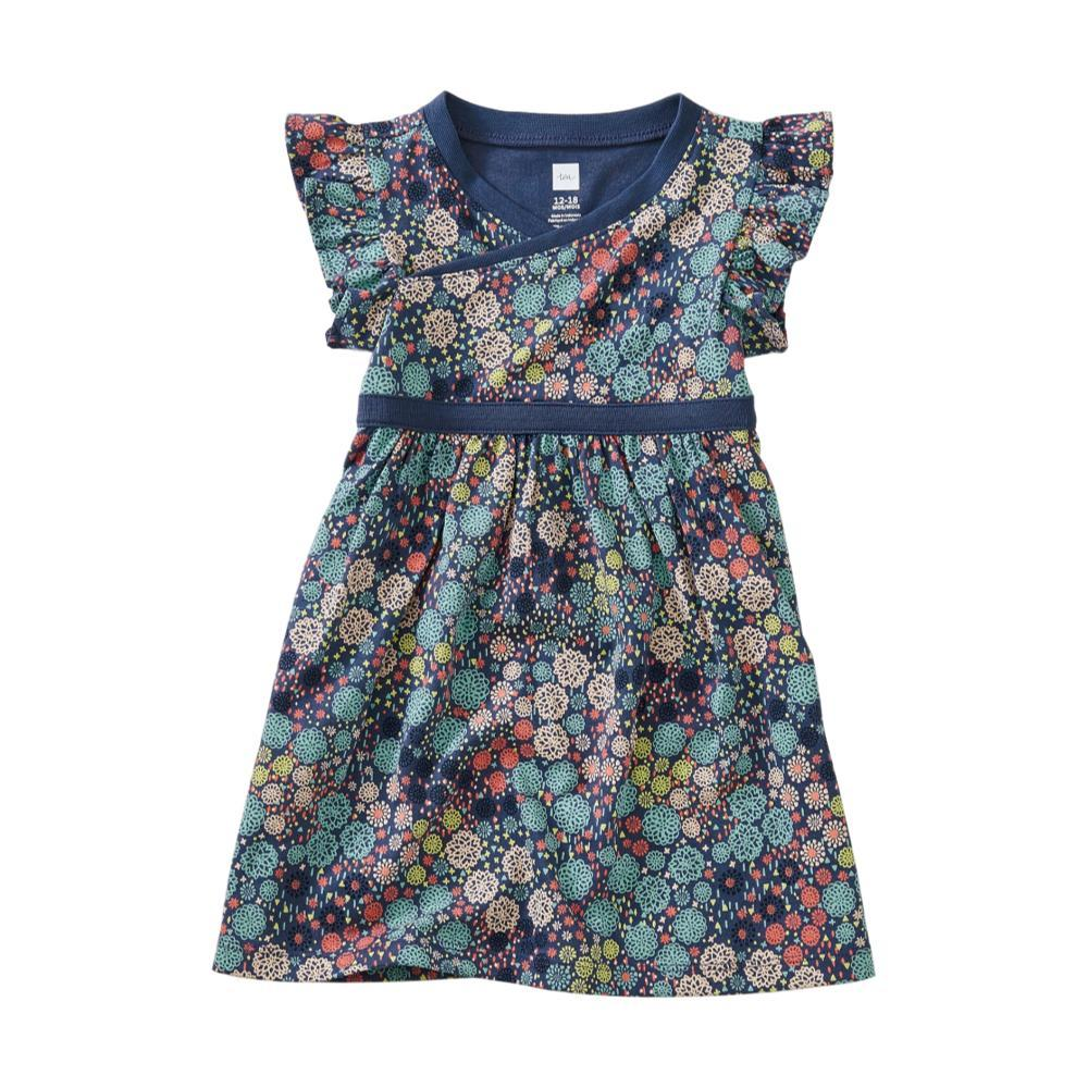Tea Collection Printed Wrap Neck Baby Dress CHRYSANTHEM