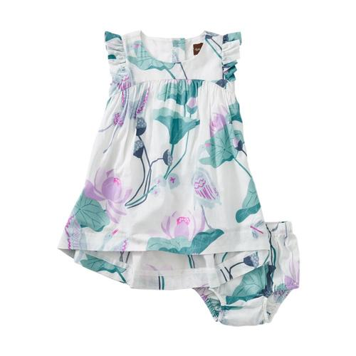Tea Collection Lotus Hi-Lo Baby Dress Lotus