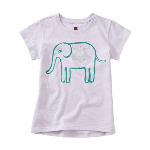 Tea Collection Girls Elephant Graphic Tee Verbena