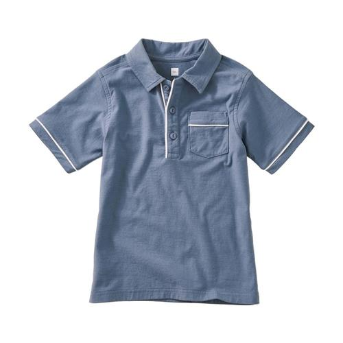 Tea Collection Boys Piped Polo Cornflower