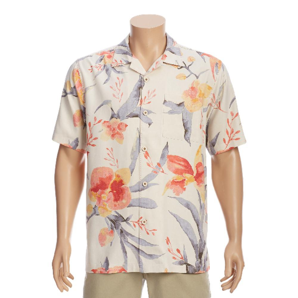 Tommy Bahama Men's Aqua Blooms Camp Shirt WHITE