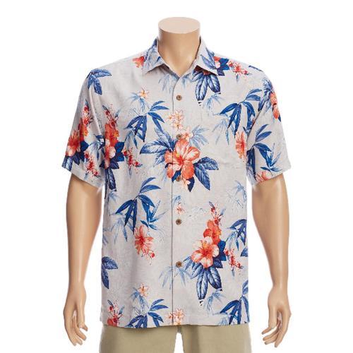 Tommy Bahama Men's Carrera Gardens Camp Shirt Madrsblue