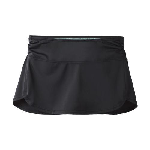 prAna Women's Lattie Skirted Bikini Bottom Black