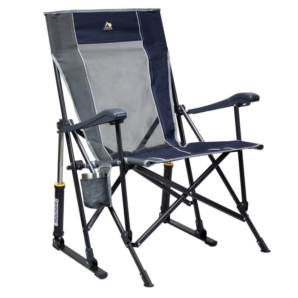 GCI Outdoor RoadTrip Rocker Hard Arm Rocking Chair MIDNIGHT