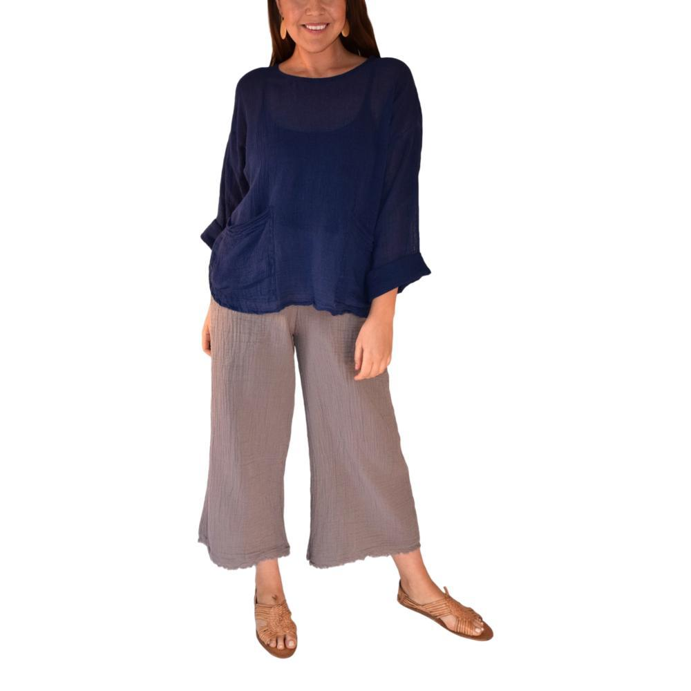 Honest Cotton Women's Beach Pocket Tunic NAVY