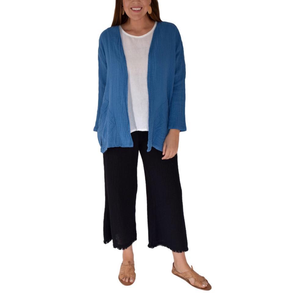 Honest Cotton Women's Pai Crop Palazzo Pants BLACK