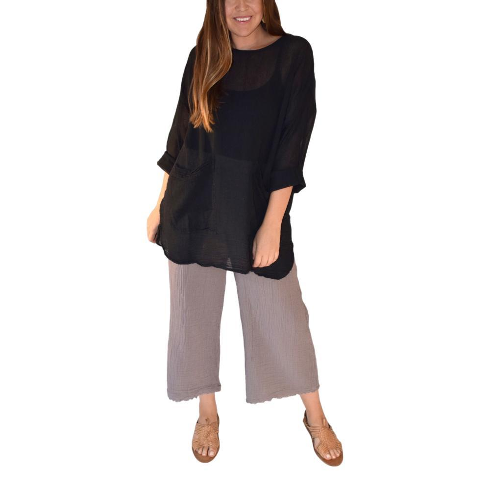 Honest Cotton Women's Pai Crop Palazzo Pants GREY