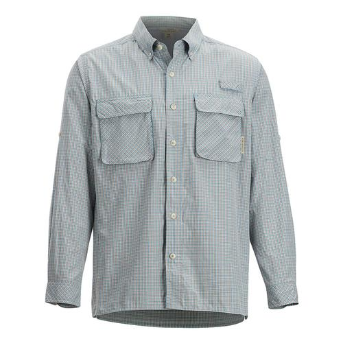 ExOfficio Men's Air Strip Check Plaid Long Sleeve Shirt Citadel