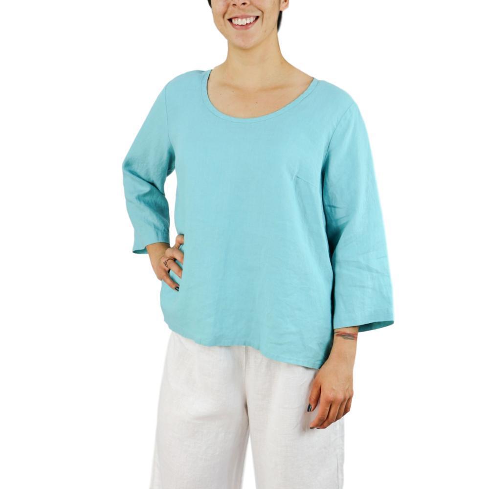 72debf85371 Selected Color FLAX Women s Button Crop Linen Shirt ARUBA