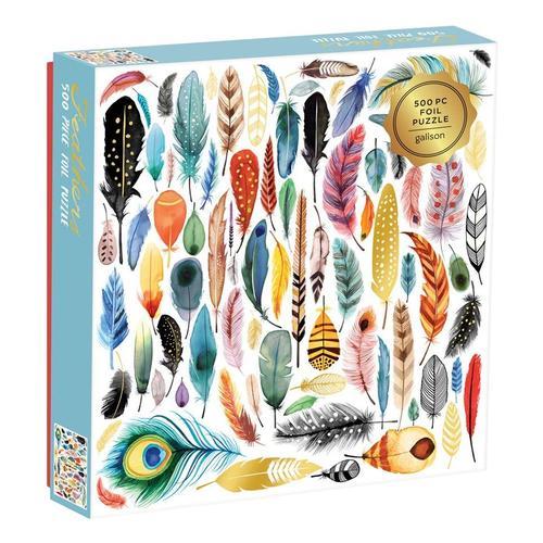Chronicle Books Feathers 500-Piece Foil Puzzle